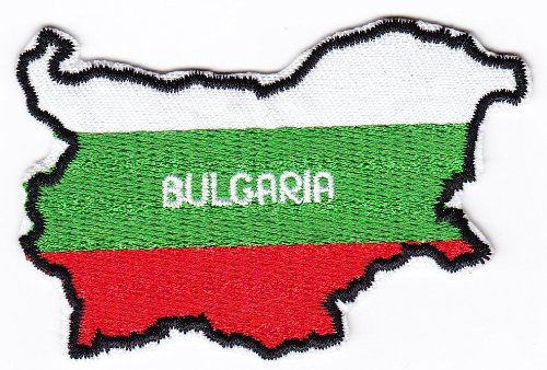 Multi Color Country National Flag Map Iron on Patch Heat Seal Emblem Applique (Bulgaria 5 X 8 cm) by AccessCube (Emblem Map)