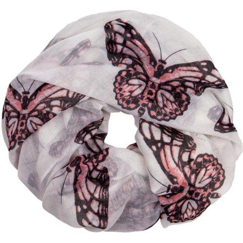 CASPAR - SC364 - Écharpe tube pour femme/Foulard / Châle avec imprimé papillons - plusieurs coloris