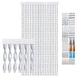 Bestlivings Türvorhang PVC Streifen Silber 100 x 210 cm
