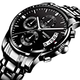 Watch Hombres de Moda Reloj de Cuarzo de Acero Impermeable Reloj Relojes para Hombre del Negocio