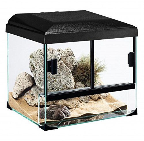 Diversa terraset Desert 60* 40* 45cm terrario de Cristal para Reptiles Anfibios Tortugas Teca Unidades con Accesorios