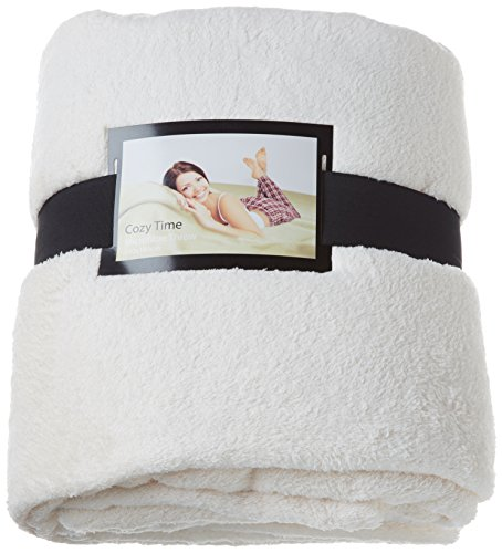 Preisvergleich Produktbild Cozy Time 48145Microfaser Fleece Decke, cremefarben
