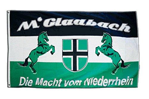 Fahne / Flagge Mönchengladbach - Die Macht vom Niederrhein + gratis Sticker, Flaggenfritze®