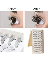 5 Or 10 Pairs Beautiful Long Natural Thick Handmade Makeup False Eyelashes Lashes UK SELLER (217 - 10 Pairs)