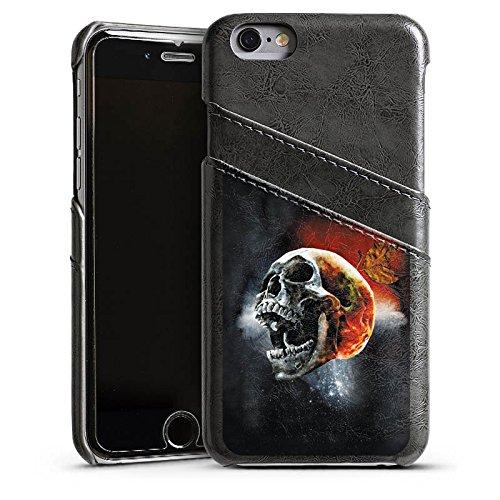 Apple iPhone 4 Housse Étui Silicone Coque Protection Tête de mort Tête Cri Étui en cuir gris