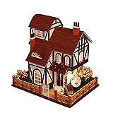Momola Puppenhaus Holz DIY Cottage Princess Zimmer,Flower Town 3D Puzzle Handgemachte Spielwaren...