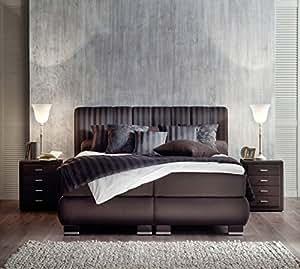 oschmann comfortbetten prestige boxspringbett 180x200 cm braun inkl visco topper. Black Bedroom Furniture Sets. Home Design Ideas