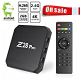 Android TV Box 7.1 OS Z28 Pro Smart Box 2/16G YouFu Support Una Extension de Stockage de 64GB / RK3328 Quad-Core 64bit Cortex-A53 / 4K*2K Full HD 1080P/ Wi-Fi 2.4G H.265 DLNA Miracast Set-top Box