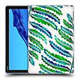Head Case Designs Officiel Cat Coquillette Modèle De Feuille De Fougère Vert Bleu Tropical Étui Coque en Gel Molle pour Huawei MediaPad M5 Lite