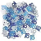 Unique Party - Blu - Coriandoli decorativi per festa di compleanno - 18 anni (Taglia unica) (Blu)