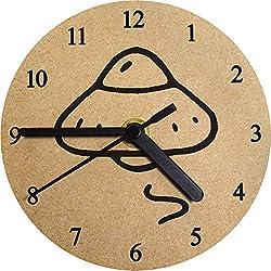 Azeeda 130mm 'OVNI' Reloj de Pared pequeño MDF (CK00022245)