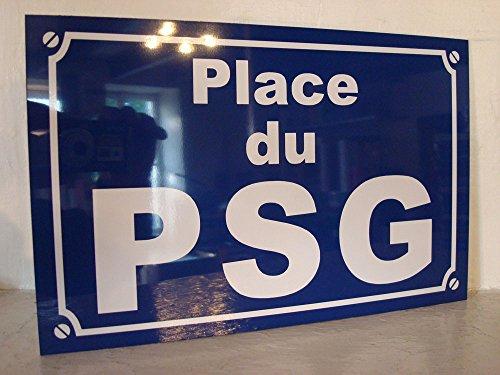 PLACE du PSG format 20 x 30 Création Plaque de rue idée cadeaux objet collector