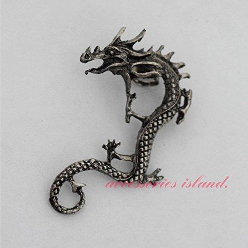 L' antica argento drago Dragon orecchino Ear gancio dell' orecchio orecchini a clip orecchio orecchini gancio, Dragon drago orecchio gancio orecchio clip orecchini Ear Hanging orecchino a forma di dragone