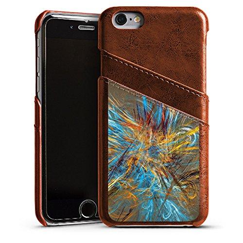 Apple iPhone 4 Housse Étui Silicone Coque Protection Motif Motif Abstrait Étui en cuir marron