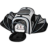 billet d'avion de transport pour animal avec un certificat extensible doux Face 4Côtés Sac de voyage pour chiens chats Chatons chiots et petites et moyennes animaux Transporteurs