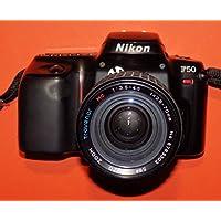 SLR Camera analog Nikon F50incl. Lente travenar MC Auto Zoom F = 28–70mm 1: 3.5–4.5Diámetro 58con filtro UV 58mm # técnica–OK–by Photo Flash #