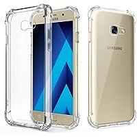 Funda Samsung A5 2017 Transparente, Funda Samsung A5 2017 Silicona Antigolpes de Moozy® - Samsung A5 2017 Funda Silicona Transparente TPU Flexible
