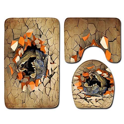 e 3D Druck Dinosaurier antibakterielle toilettensitz Kissen Bad Isolierung pad wc zubehör, 45 cm * 75 cm ()