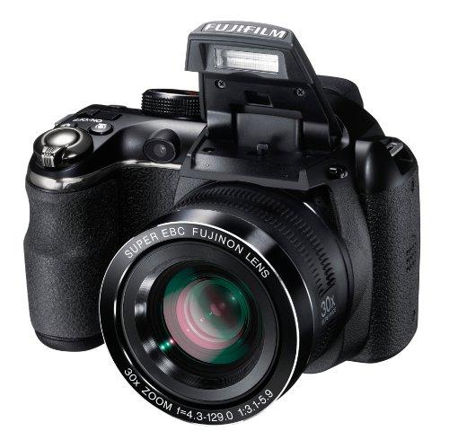 Fujifilm finepix s4500, fotocamera digitale 14 mp, zoom 30x 24-720 mm, stabilizzatore meccanico