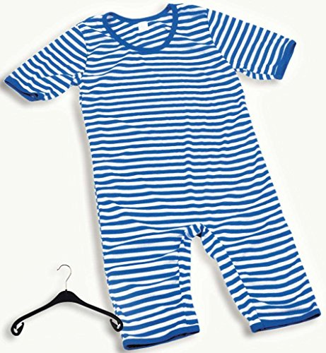 Badeanzug ca. halblang verschiedene Farben aus früheren Zeiten Größe XX-Large Scherzkostüm (blau-weiß)
