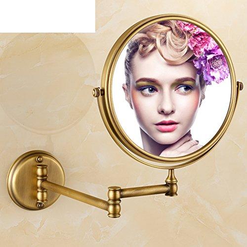 rame antico specchio/ lo specchio/ vintage double-sided magnifying glass/Europeo bagno accessori vanità specchio pieghevole