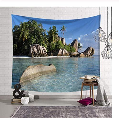 Celestial-wand-dekor (Zbzmm Sea Beach Tree Tapisserie Wandbehang Wandteppich Decke Tapisserie Wohnzimmer Schlafzimmer Bauernhaus Dekor Wand Stoff Celestial)