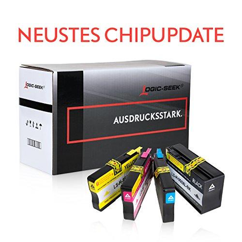 Preisvergleich Produktbild Logic-Seek 4er-Pack Tintenpatronen kompatibel zu HP 950XL 951XL für HP Officejet 8610, Officejet Pro 8620, Officejet Pro 8100 ePrinter - Neuster Chip