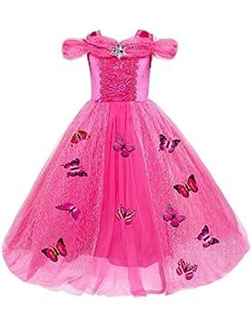 Le SSara Princesa de las niñas de Navidad disfraces cosplay vestido de mariposa