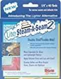 "Lite Steam-A-Seam 2 Double Stick Fusible Web-.25"" X40yd"