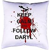 Kissenhülle mit Druck The Walking Dead Daryl Dixon Kissenbezug mit Motiv 40x40 cm beidseitig bedruckt mit oder ohne Füllung