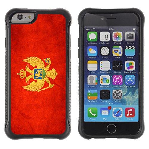 Graphic4You Vintage Uralt Flagge Von Griechenland Griechisch Design Harte Hülle Case Tasche Schutzhülle für Apple iPhone 6 Drapeau Monténégrin Monténégro