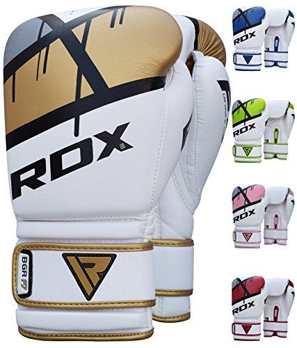 RDX Guantes de Boxeo Kick Boxing Muay Thai Saco Entrenamiento Adulto Sparring Cuero Maya Hide Combate Boxing Gloves