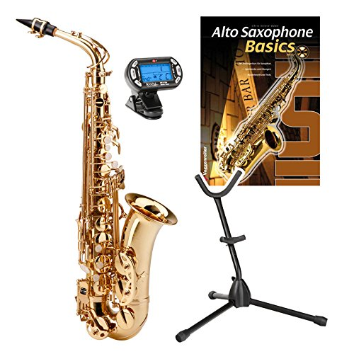 Classic Cantabile AS-400 Eb-Altsaxophon SET inkl. Zubehör + Noten - Messing Classic 3
