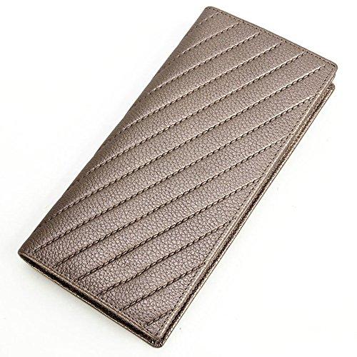 ZQ Echte Neue Damen Lange Brieftasche Multifunktionale Einfache europäische und Amerikanische First Layer Rindsleder Geldbörse (Amerikanische Geldbörse)