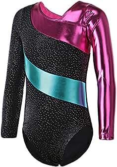 HUAANIUE Justaucorps de Gymnastique Danse Fille Leotard Combinaison Gym  Esthétique. e0e7ed5edbb
