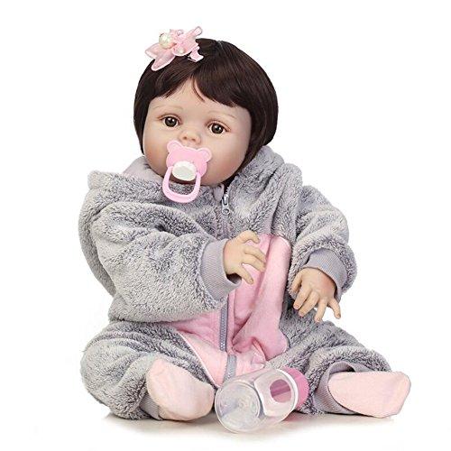 Realistische Reborn Babypuppe Lovely Girl Soft voll Silikon Geburtstagsgeschenk spielen Spielzeug 22