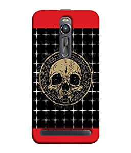 PrintVisa Designer Back Case Cover for Asus Zenfone 2 ZE551ML (Skull In Red And Black Design)