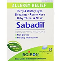Boiron Homeopathic Medicine Sabadil Tablets for Hay Fever and Allergies,