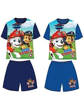 Patrulla Canina- Conjunto de Pantalon y Camiseta Manga Corta Verano (2, azul marino)