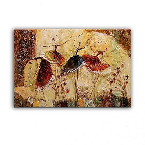 WENSMPIGKJ Ölgemälde Handdekoration abstrakte Dekoration Balletttanz Mädchen (kein Rahmen -