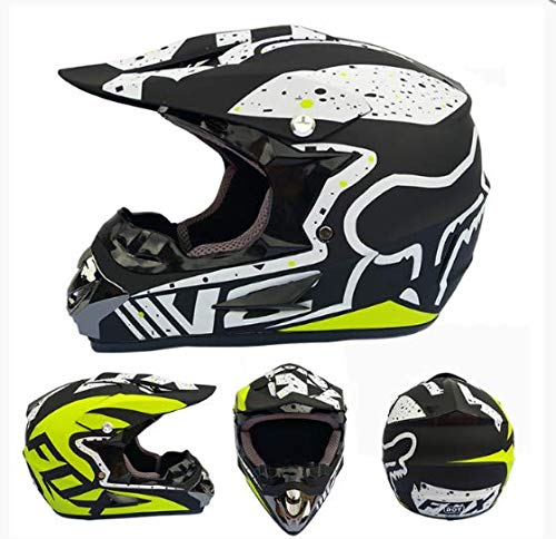 linfei Explosive Motorradhelm Mountainbike Integralhelm Cross Country Helm Kleine Leichte Offroad-Helm Helm