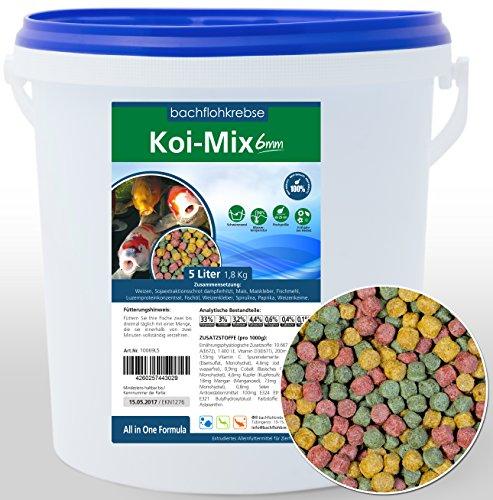 Koifutter Koimix 6mm - Koi Pellets Koi Futter, Teichfutter (5 L Eimer)
