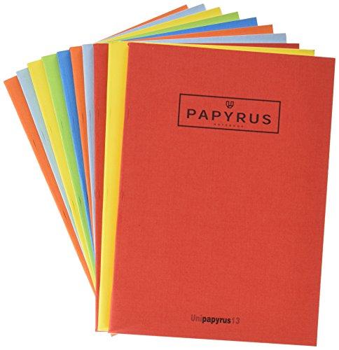 Papyrus 74354 - Libreta A5 de 50 hojas, cuadriculada, paquete con 10 unidades