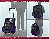 Hundetrolley / Transport für Hunde / Trolley & Rucksack XL Blau