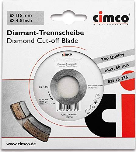 Cimco Diamanttrennscheibe 20 8738 Trenn-/Schleifscheibe 4021104087380