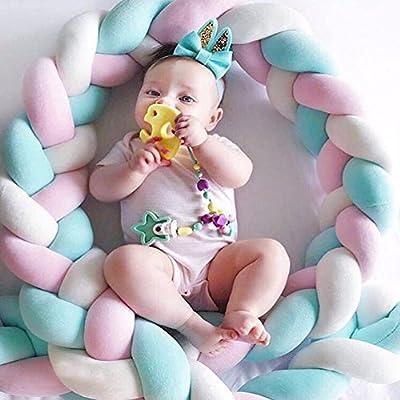 LanLan Cuna de bebé Parachoques, Seguridad de Recién Nacido de Cama Sleep Bumper