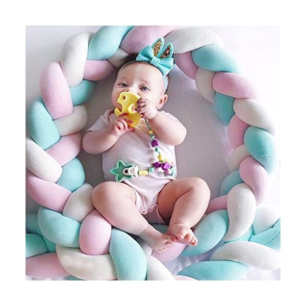 elegantstunning Baby Crib Bumper Knotted Braided Plush Nursery Pillow Cushion elegantstunning Made of high quality material, soft and comfortable, safe, durable. Avoid your baby's head, legs or hands bumping into crib, keeps your little ones safe. Fits all baby cribs or toddler stroller carriage, flexible to use. 10