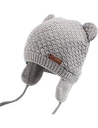 Unisex - Baby Mütze Beanie Strickmütze Unifarbe Wintermütze JOYORUN