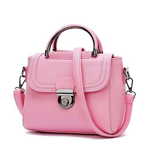 KYOKIM Frau Wasserdichte Mode Litschi Einfache Mini Tragbare Schulter Umhängetasche Handtasche 28 21 Unzen (oz),Red-AllCode