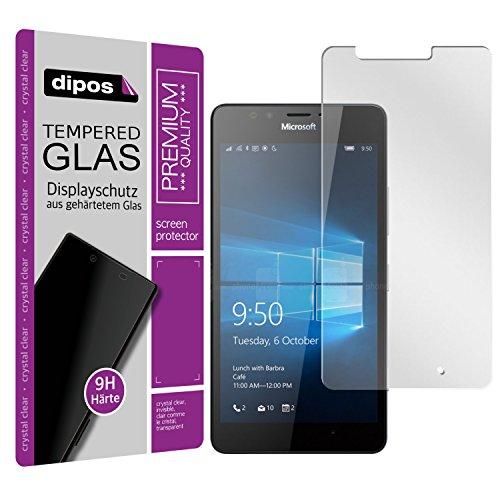 dipos I Hart-Glas passend für Microsoft Lumia 950 Panzerfolie I 9H Echtglas Schutzfolie Bildschirmschutz-Folie